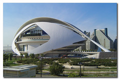 City of the Arts and the Sciences of Valencia, Spain, by jmhdezhdez (jmhdezhdez) Tags: city travel bridge copyright espaa abstract building art history tourism water glass valencia architecture river spain opera europe arte edificio hamilton arts engineering ciudad cable f1 ferrari paseo calatrava curve curved alameda alonso modernarchitecture raikkonen masa sciences stay agora santiagocalatrava allrightsreserved vidrio espania ciudaddelasartesylasciencias pritzker curving espanya turia arquitecto hormign ingeniera kovalainen ingeniero trencadis principefelipe renaultf1team abigfave serrera cityoftheartsandsciences ciudaddelasartesylascienciasdevalencia arquitecturacontempornea granpremiof1 httpwwwjmhdezhdezcom contactjmhdezhdezcom josmiguelhernndezhernndez frmula1valencia cityoftheartsandthesciencesofvalence puentedelaserrera wwwjmhdezhdezcom
