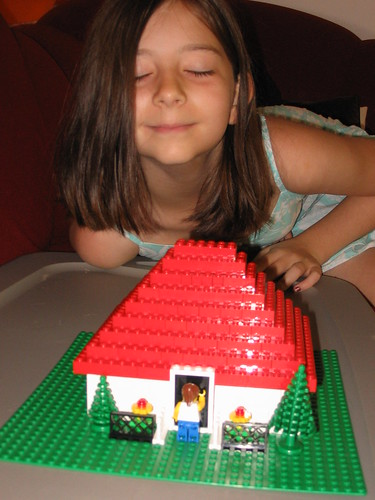 Hannah and her Lego House