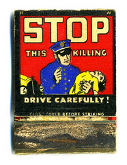 Drive Carefully! (R.Berdar) Tags: ephemera collection matchbook publicservicemessage