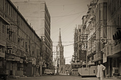 Karachi old icon (Aliraza Khatri) Tags: morning pakistan streets tower architecture buildings british karachi oldtown merewether aliraza lptower lptowers