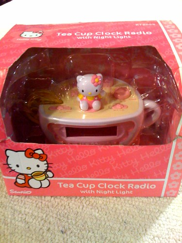 Pink Hello Kitty Alarm Clock Radio