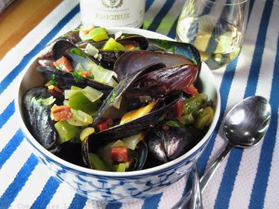 mussels chorizo bowl