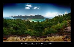 Tonsai Bay Viewpoint (d.r.i.p.) Tags: travel panorama germany thailand island deutschland nikon asia widescreen drip thai dri 180 hdr phiphiisland hdri 18mm tonsai photomatix d80 hdrpanorama vertorama