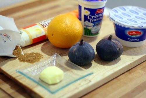 Ingrédients tarte feuilletée au figues