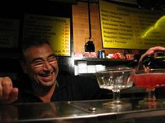 Cava slinging bartender, Barcelona, Spain