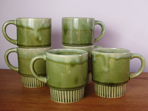 new green mugs