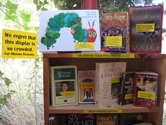 Banned Books Week display at the Book Barn (detail)