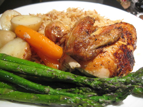Roasted Chicken with Potatoes & Carrots