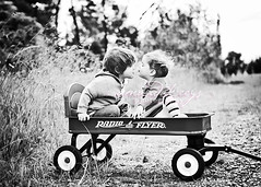 Windy day for a wagon ({amanda}) Tags: boy red cute girl kids children wagon spring toddler child windy mykids 3years radioflyer 2470l smooch 2years amandakeeysphotography superfreakingwindyspringday