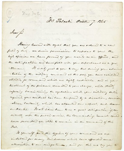 Letter from Confederate statesmen in captivity