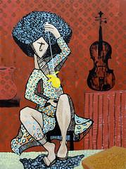 girlpracticingviolin (RAS. Rodger Schultz) Tags: art painting contemporary fineart paintings ras highart