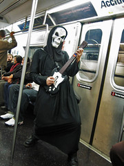Grim Reaper From Guitar Hero - Halloween (2006) (Rob Boudon) Tags: nyc newyorkcity halloween subway october guitarhero grimreaper robboudon