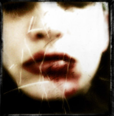 So, you've got a broken lip babe (Kristamas is haunted) Tags: selfportrait leonardcohen kristamas blindphotographers klousch