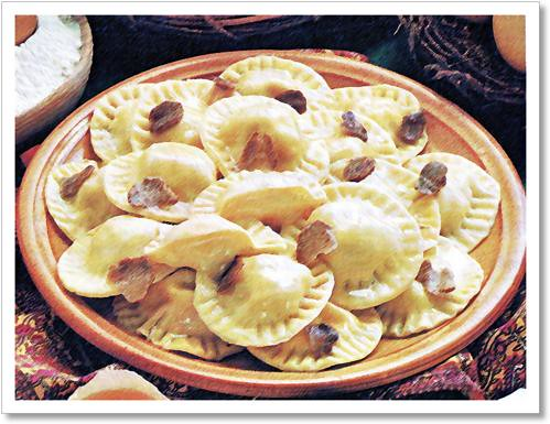 foto dei tortelli alla fonduta e tartufo