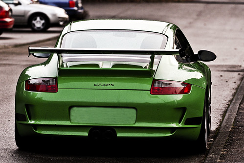 Porsche 911 Gt3 Rs Green. The back of a Porsche 911 GT3!