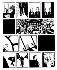 meltdownp3.jpg (Archcomix) Tags: comic image picture panic nightmare wallstreet meltdown investment stockmarket banker wordless financialcrisis