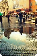 Piazza Navona (ingephotography) Tags: plaza italy sun rome roma church water rain contrast xpro italia cross crossprocessing processing piazza plein zon kerk italie regen navona proces pleintje crossproces
