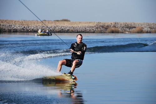 Mike Vondran Wakeboarding the San Juaquin Delta,  Byron, California, November 16 2008.
