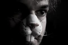 ... (bellimarco) Tags: portrait color rabbit me face canon eyes colore shadows mask autoportrait conejo ombre io occhi marco autoritratto belli ritratto viso lapin maschera coniglio faccia maligno denti elastico malefico 40d