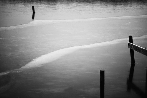 Lake Wingra Freezes in Black and White