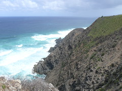 Cape Byron (phempsall) Tags: ocean sea cliff lighthouse clouds rocks view pacific wind cloudy rocky windy pacificocean byronbay capebyron