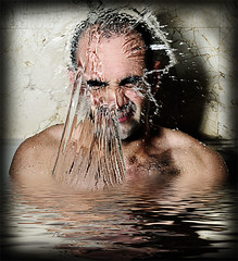 Big Splash 2 (HE~GOES) Tags: man hot men guy textura water hit agua inundacion modelos handsome modelo reflejo splash manolo guapo hombre ttv