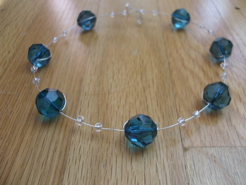 Vintagesque Necklace kit - smoky blue Lucite beads