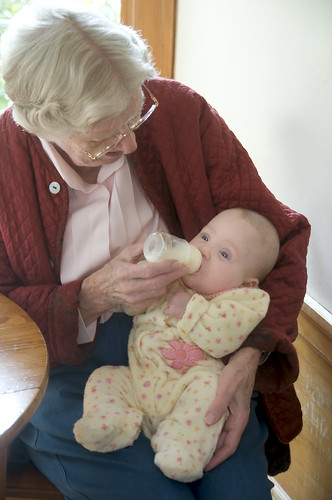 Grandma Feeding Katie Rose