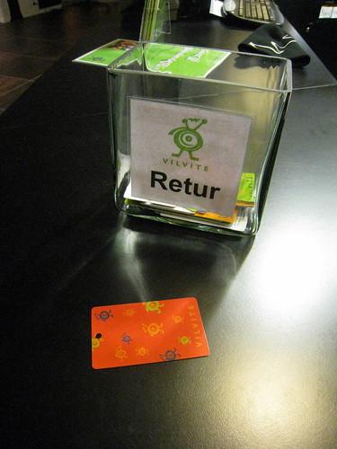 Boite pour rendre les tickets RFID