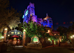 Disney - Hollywood Tower Hotel at Night
