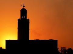 La mosque - The mosque (plaurin19) Tags: sunset backlight mosque maroc marrakech crpuscule mosque photoqubec
