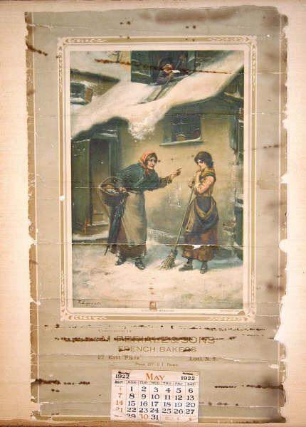 Periale Bakery Calendar, Lodi, NJ, 1922