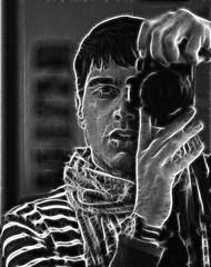 Portrait of Light (Alberto Feltrin) Tags: light portrait white black photoshop self canon 350d rebel xt ray ii autoritratto ritratto ef 5018 fractalius photofeeling alfeel