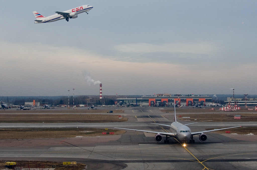 CSA Airbus A320 OK-MEH and Aeroflot Boeing 767-300