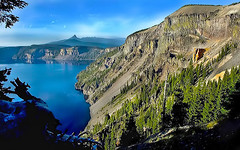 ~ Let Me Show You The World Thru My Eyes ~ (~ Western Dreamer ~) Tags: lake mountains volcano lakes scenic tranquility craterlake tranquil volcanos mtthielsen craterlakeoregon blueribbonwinner welcometomyworld pumicecastle mountthielsen westerndreamer oregonlakes oregonmountains candidcapturesphotography