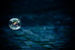 This world (ArTeTeTrA) Tags: blue rome roma reflection bokeh blu dream cavern soapbubble ondina frammentidacqua