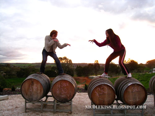 me and brandom on barrels