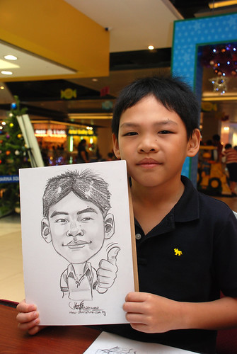Caricature live sketching for Marina Square 1