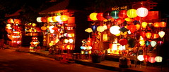 Lantern street - Hoi An, Vietnam (kees straver (will be back online soon friends)) Tags: street longexposure travel blue light red people water colors festival night canon river dark temple lights boat memorial asia southeastasia market vietnam hoian lanterns lamps lantern hanoi saigon abigfave keesstraver