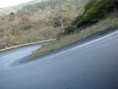 Steep roads on the hills of the california Coast. Phot by Ivana