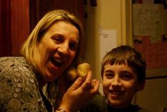Twice Baked (dawnawood) Tags: christmas eve family mom potatoes massachusetts josh