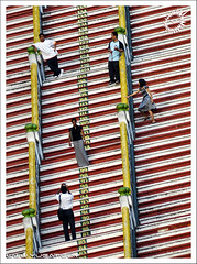 Photo Poses (Yug_and_her) Tags: travel people lines horizontal architecture stairs temple candid steps posing tourists diagonal malaysia kualalumpur visitors hindu batucaves murugan pilgrims pcasteps