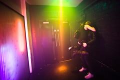 Kiss (TGKW) Tags: city boy portrait people woman man girl night lights hands hug couple neon colours lift glasgow candid corridor nightclub thighs passion abc nightlife embrace buttocks
