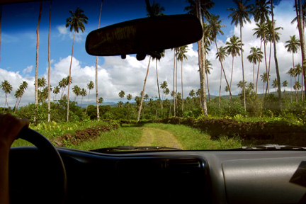 Driving around Savai'i