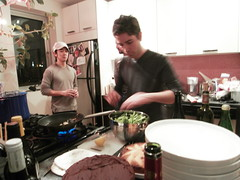 tom:cooking. (stephiblu) Tags: nyc ny brooklyn newyearseve newyears happynewyear bk december2008 newyearsrockineve 20082009 january2009