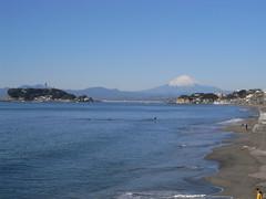 Kamakura-shore-MtFuji
