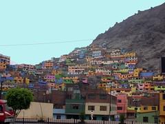 Los colores del cerro San Cristobal, Lima Per (Cristina Bruseghini de Di Maggio) Tags: houses peru colores cerro casas mywinners