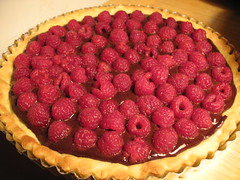 I BAKED THIS: 2009 valentine's day dinner: raspberry chocolate ganache tart (optionthis) Tags: desert chocolate homemade tart rasberry baked bakedgoods epicurious ganche