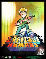 i revenge humans (soapboxartwork) Tags: green art girl japan illustration logo graffiti clothing soap artwork artist comic sam ninja afro cartoon spray revenge soul hate sword animation jumper samurai sammy graff tshirts soapbox sista humans streetwear wonderer digidanston danston saysam irevenge