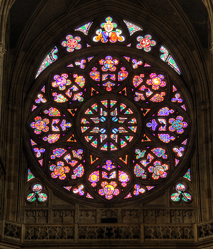 HDR Rose Window of the St. Vitus Cathedral, Prague, Czech Republic by beatbull.